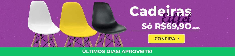 Cadeiras eiffel só R$69,90 cada. Últimos dias! Aproveite!
