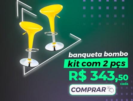 Banqueta bombo kit com 2pçs R$343,50 cada. Comprar