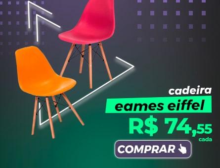Cadeira Eames Eiffel R$74,55 cada. Comprar