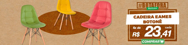 Cadeira eames botonê 6x de R$ 23,41 cada