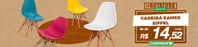 Cadeira eames eiffel 6x de R 14,52 cada