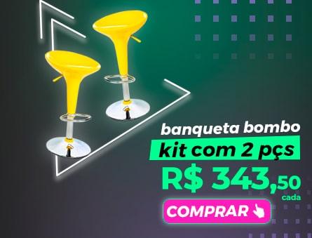 Banquetas bombo kit com 2pçs R$ 343,50 cada