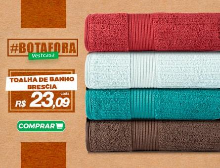 Novidade! Toalha de banho brescia R$23,09 cada. Fio penteado 100% algodão