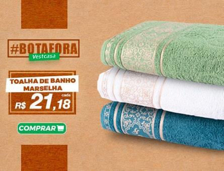 Novidade! Toalha de banho marselha R$21,18 cada. Fio penteado alta absorção