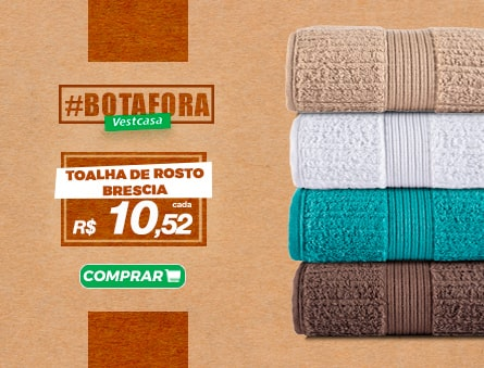Novidade! Toalha de Rosto brescia R$10,52 cada. Fio penteado 100% algodão.