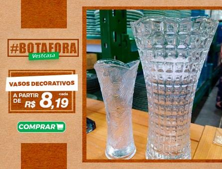 Vasos decorativos a partir de R$8,19 cada