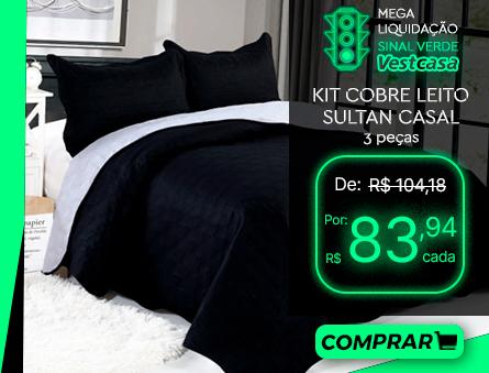 MEGA LIQUIDAÇÃO SINAL VERDE Vestcasa KIT COBRE LEITO SULTAN CASAL 3 peças COMPRAR