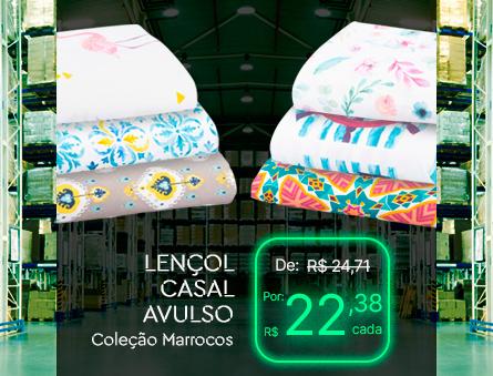 LENÇOL CASAL AVULSO Coleção Marrocos